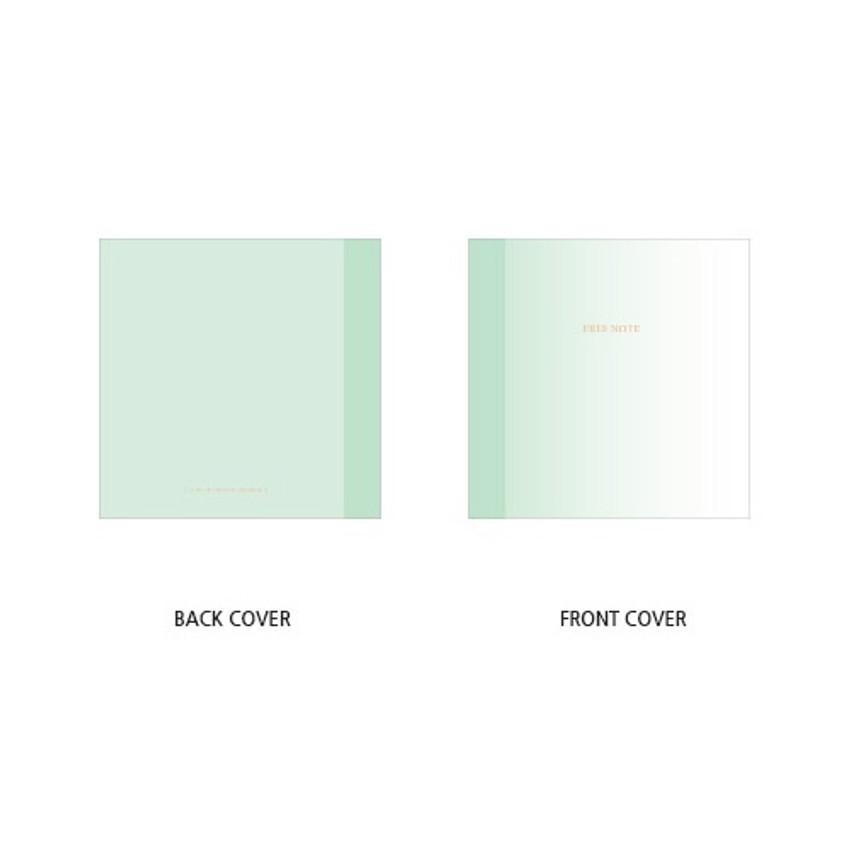 Cover - Green gradation small plain notebook
