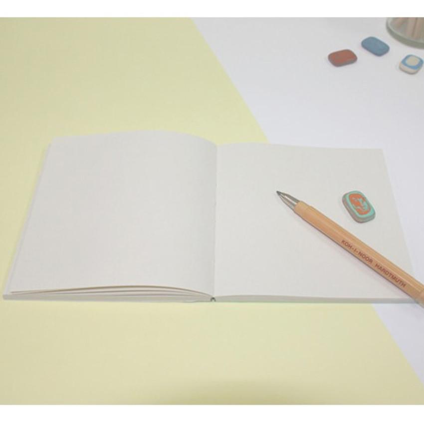 Green gradation small plain notebook
