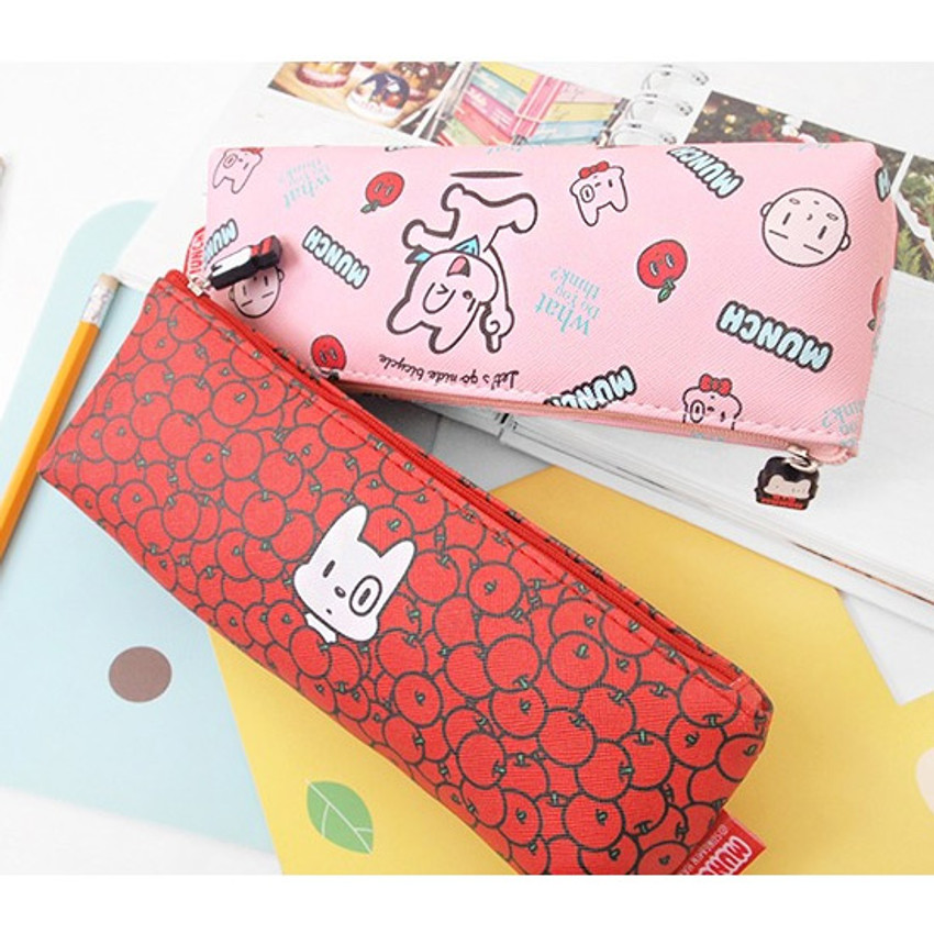 2Young Munch triangle zipper pencil case