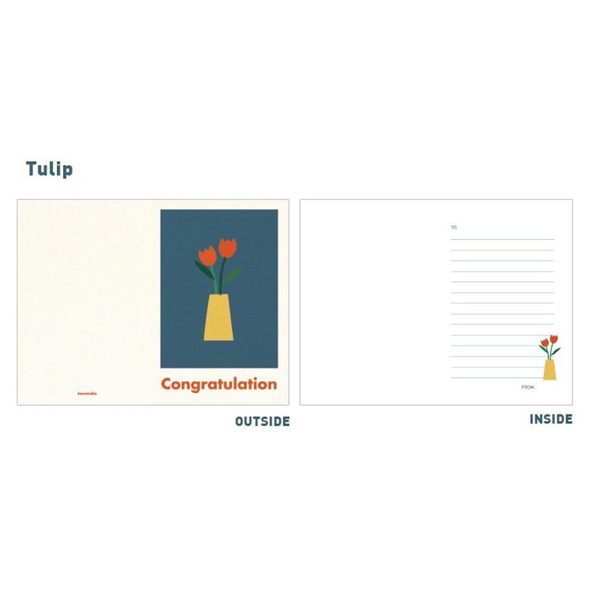 Tulip - Jam studio Jam birthday card with envelope