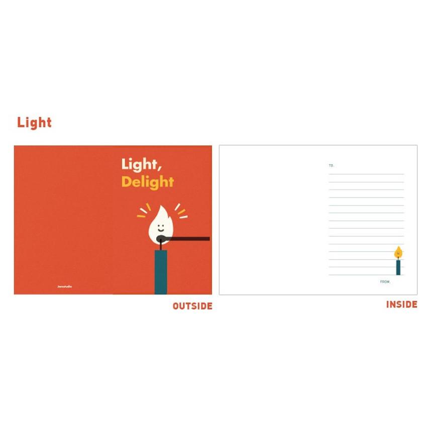 Light - Jam studio Jam birthday card with envelope