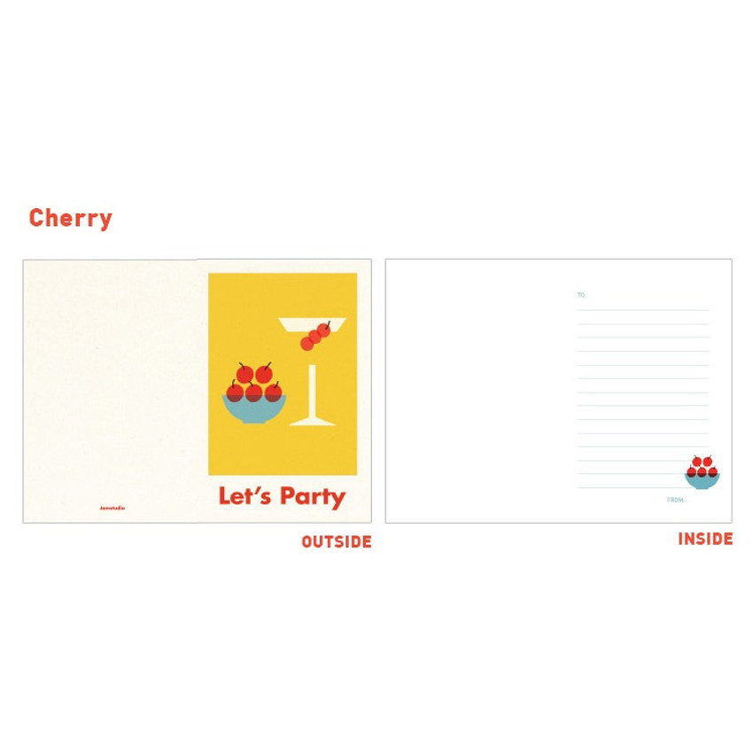 Cherry - Jam studio Jam birthday card with envelope