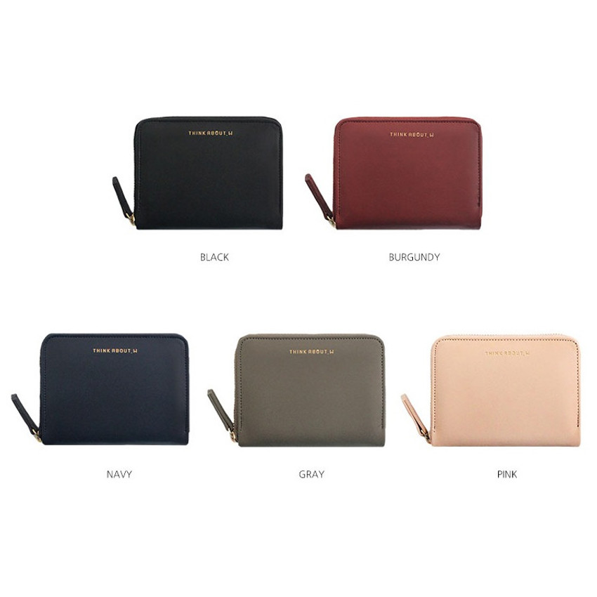 Colors of Think about accordion zip around card wallet