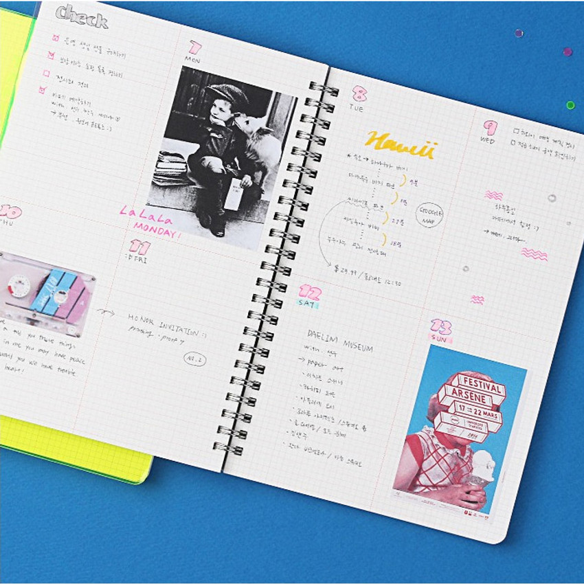 Grid notebook - Wanna This Clear spiral grid notebook