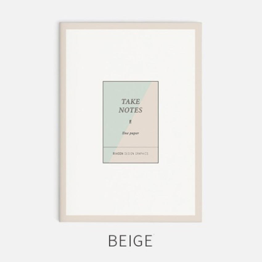 Beige - Rihoon Take notes lined notebook ver2