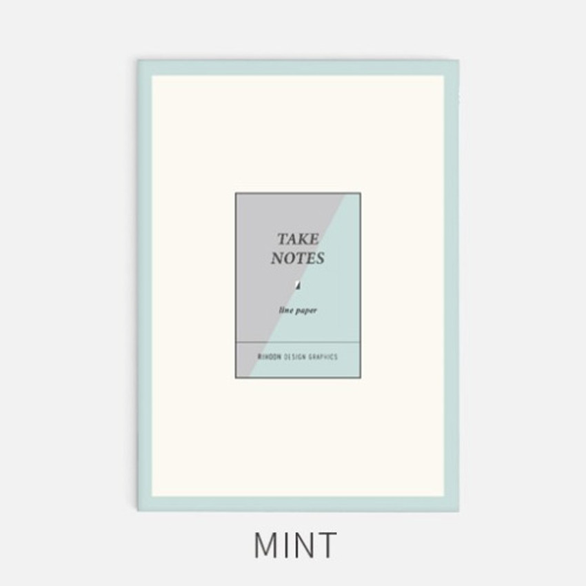 Mint - Rihoon Take notes lined notebook ver2