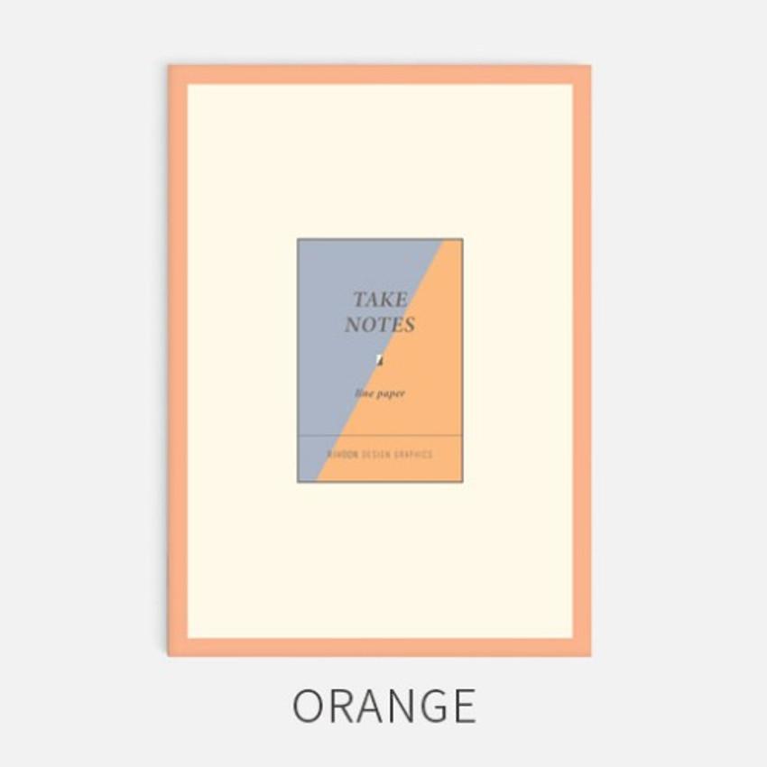 Orange - Rihoon Take notes lined notebook ver2
