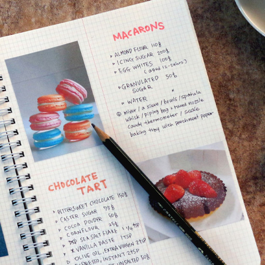 Grid notebook  - Wanna This The Bon Bon illustration spiral grid notebook