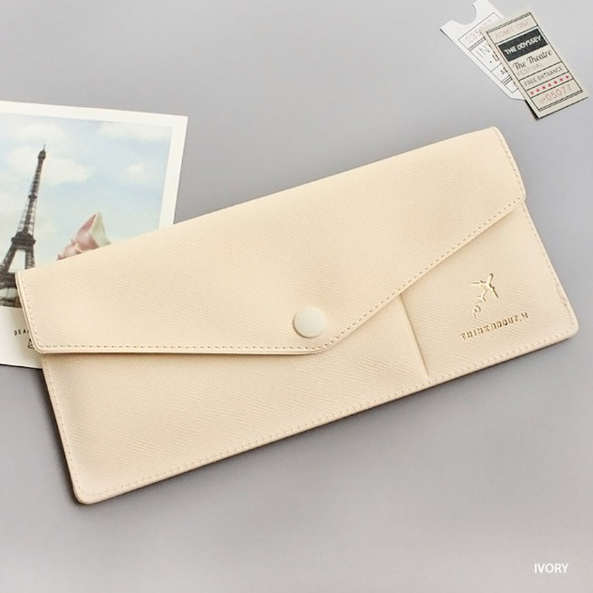 Ivory - Think about W soft envelope passport case