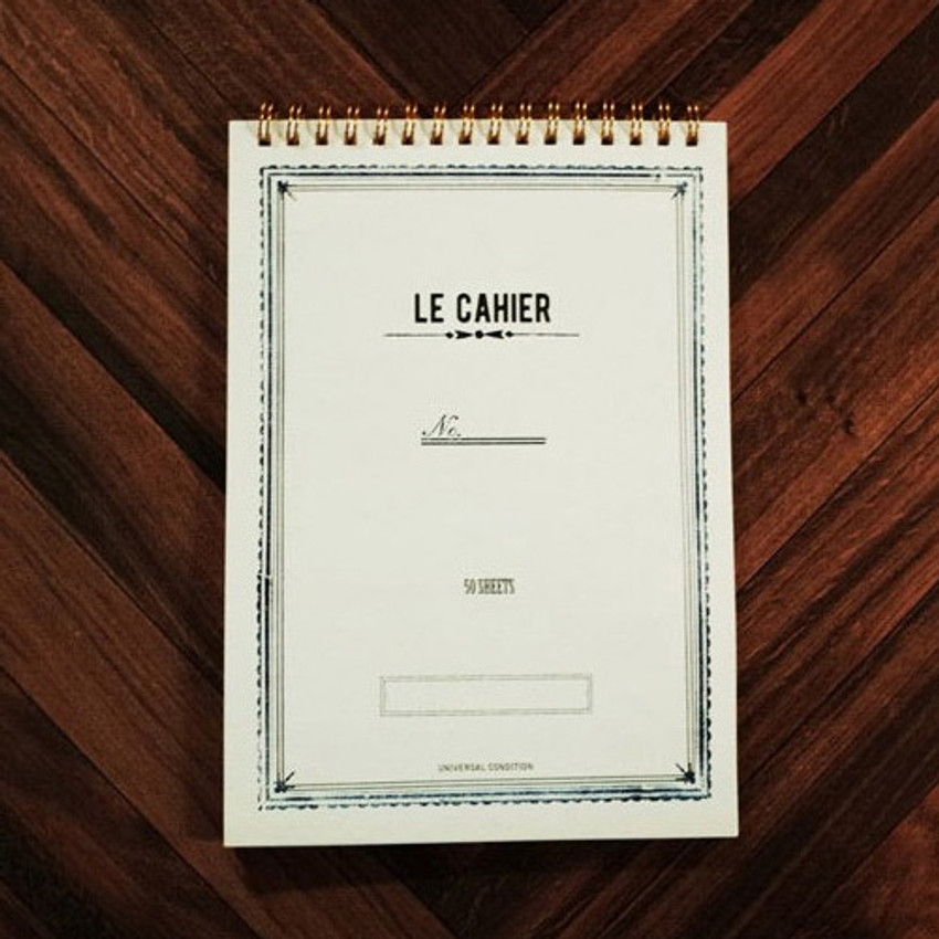 Universal condition Le cahier frame A5 size spiral center lined notebook