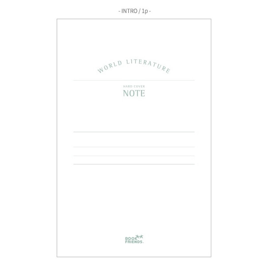Intro - Bookfriends World literature hardcover lined notebook