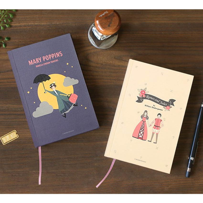 Bookfriends World literature hardcover lined notebook