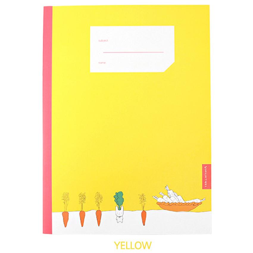 Yellow - Simsimtokki illustration lined school notebook