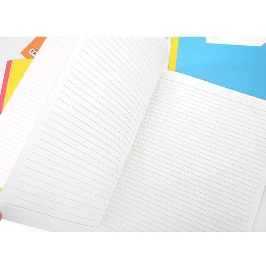 Simsimtokki illustration lined school notebook