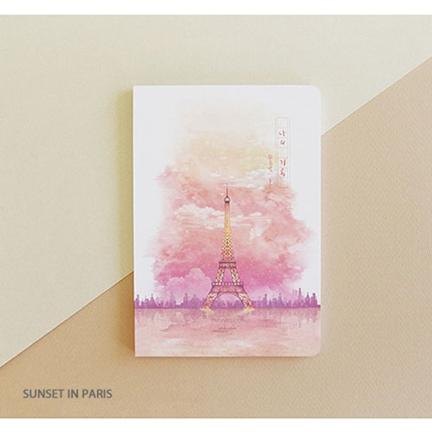Sunset in Paris - PLEPLE My story spiral cornell grid notebook