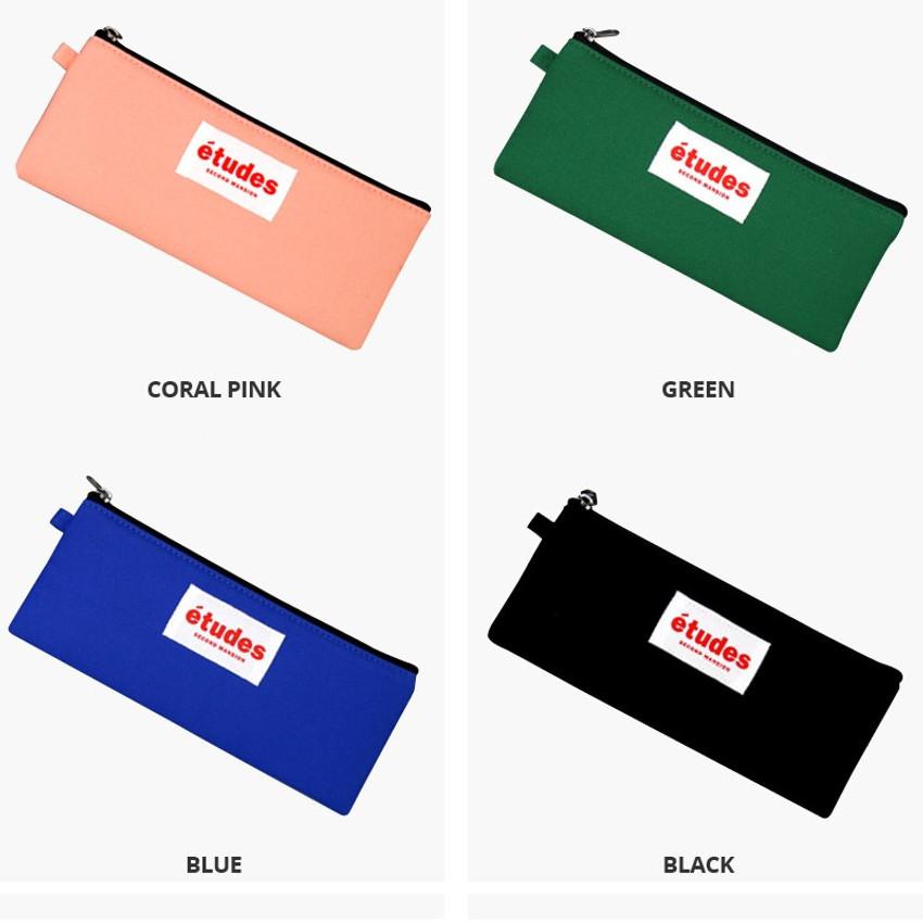 Colors of Etudes flat cotton pencil pouch