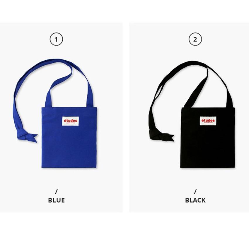 Colors of Etudes passport cotton crossbody bag