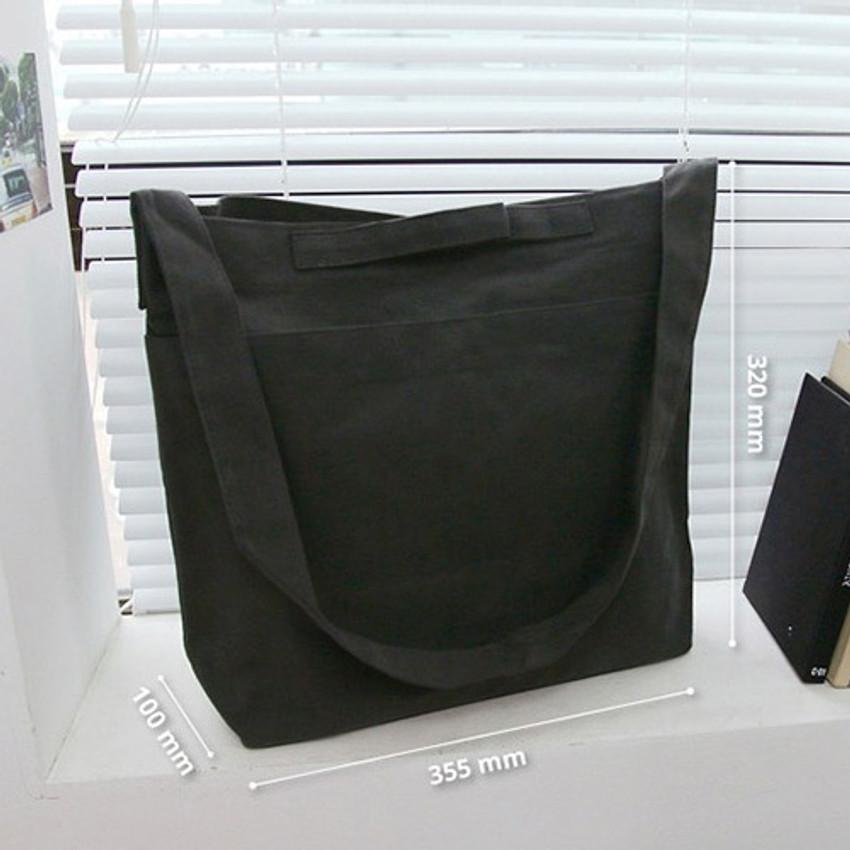 Size of Etudes hobo cotton shoulder tote bag