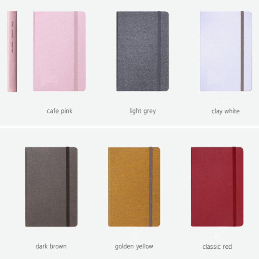 Colors of Making memory hardcover medium plain notebook