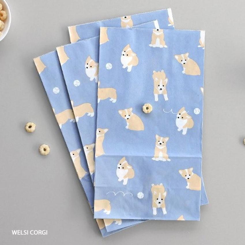 Welsh corgi - ICONIC From my heart cute gift paper bag set