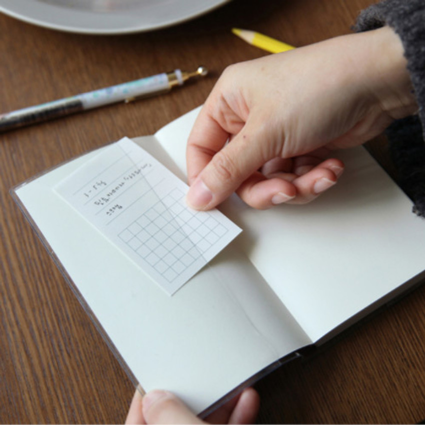 PVC cover - Free small gird notebook