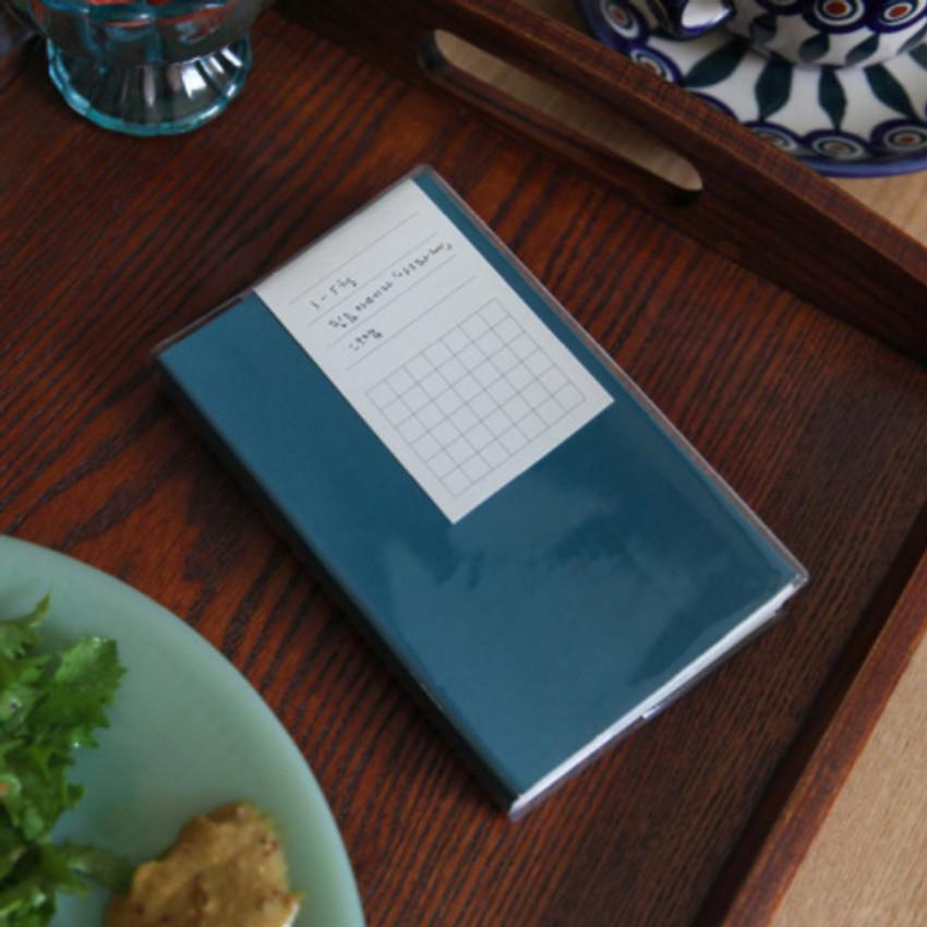 Aqua - Free small gird notebook