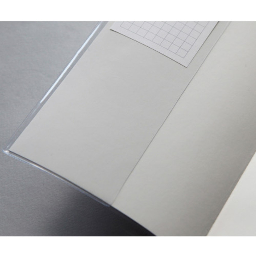 Clear PVC cover - Free medium grid notebook