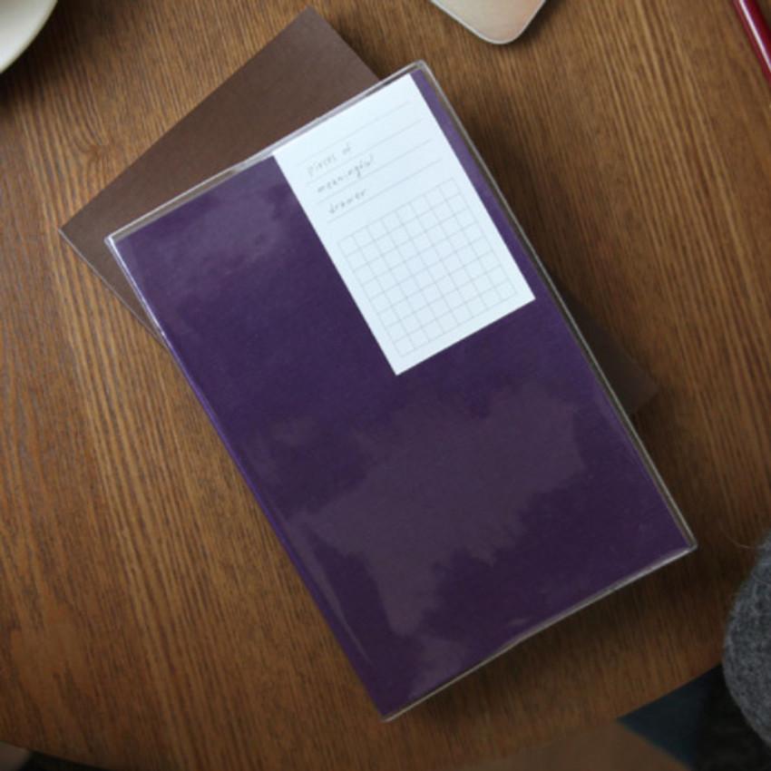 Violet - Free medium grid notebook