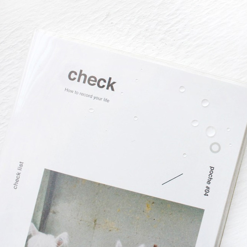 Clear PVC cover - Poche Jour undated daily planner scheduler