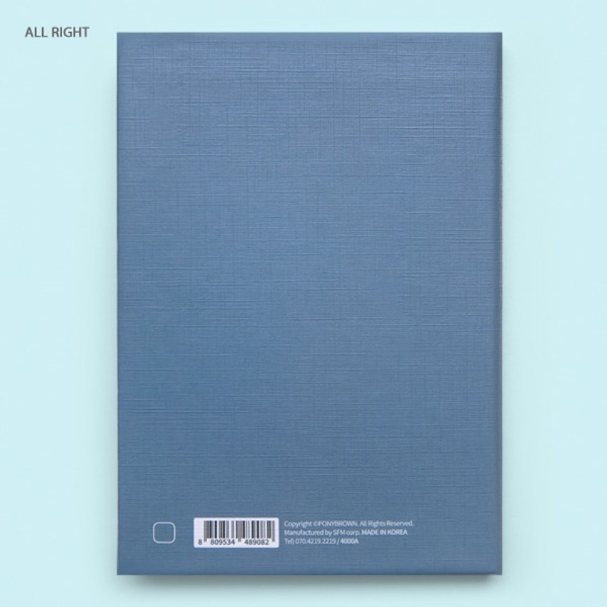 All right - Cute illustration hardcover small lined notebook