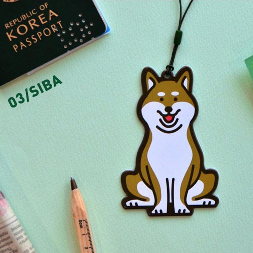 Siba - Jam studio Hello puppy travel luggage name tag