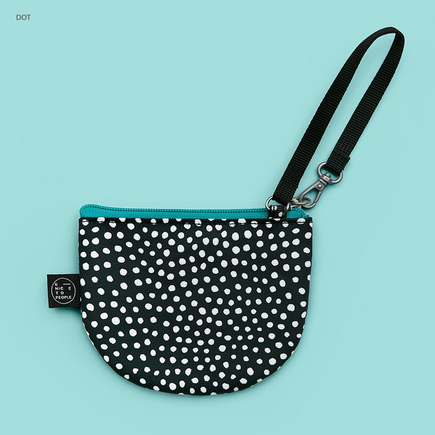 Dot - BNTP Semicircle small zipper pouch with strap