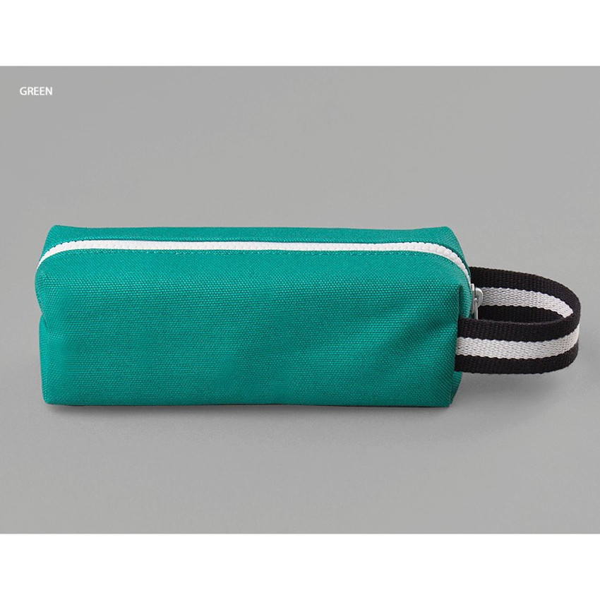 Green - BNTP Hey you zipper pencil case with strap