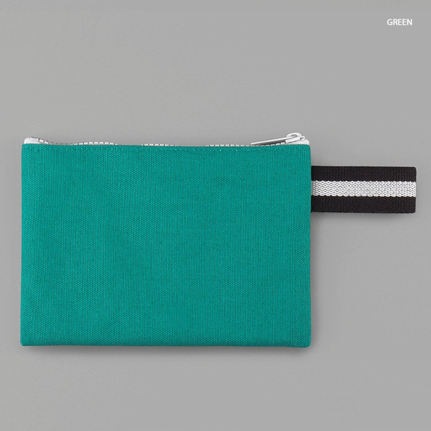 Green - BNTP Hey you zipper pouch with strap