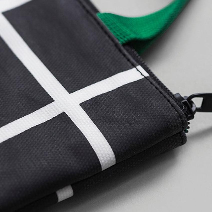 Zipper closure - BNTP Coated cotton medium document tote bag