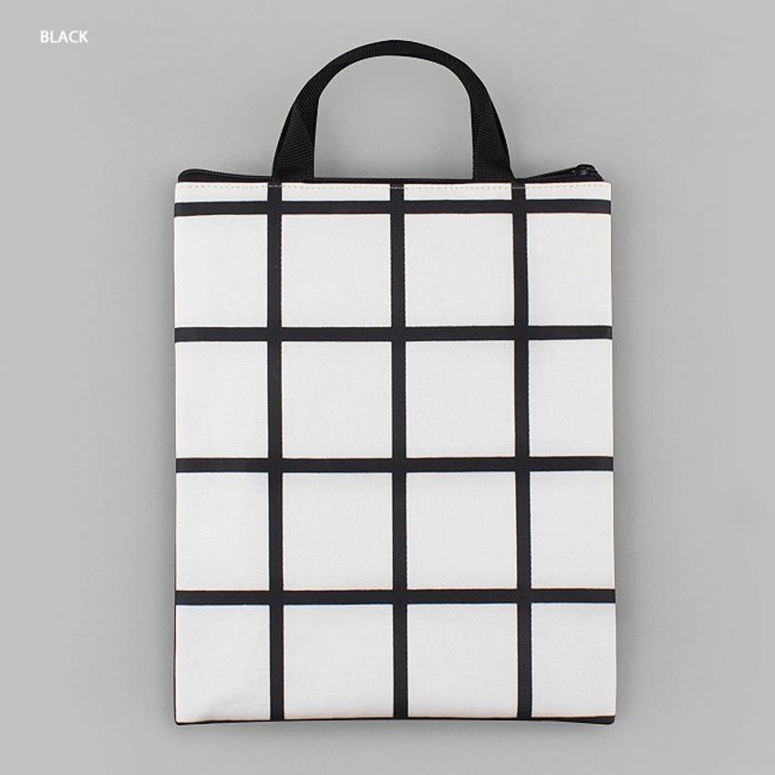 Black - BNTP Coated cotton medium document tote bag