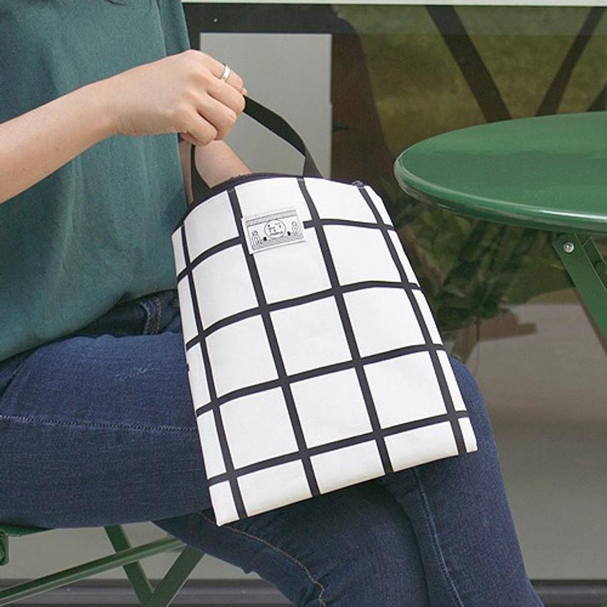 BNTP Coated cotton medium document tote bag