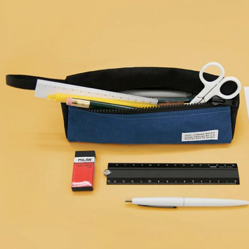 Blue - BNTP Washer long zipper pouch pencil case