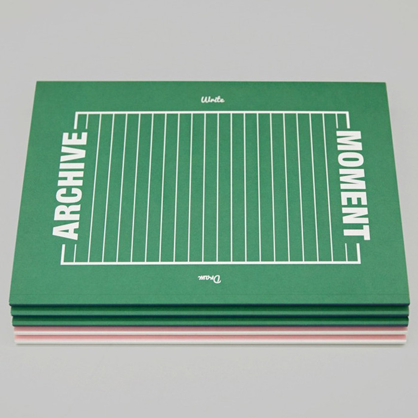 Blue green - BNTP Moment archive two way lined notebook