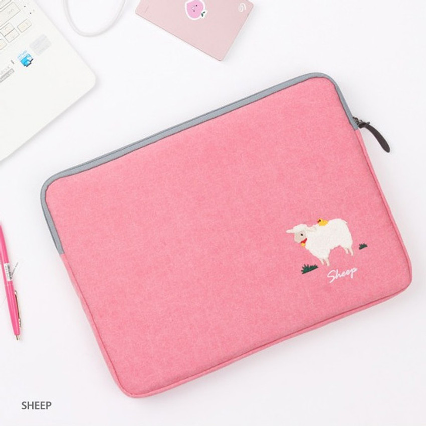 Sheep - Tailorbird embroidery 15 inches laptop case