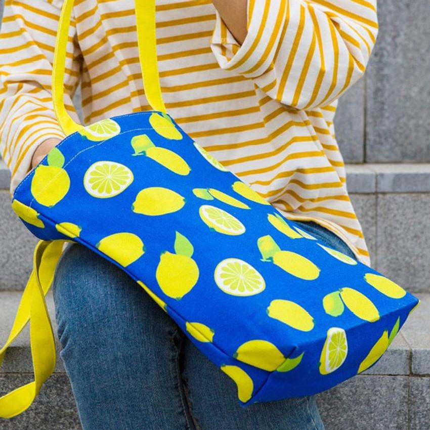 Lemon - Pattern canvas shoulder bag