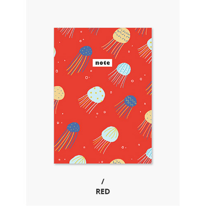 Red - Pattern mini small lined notebook