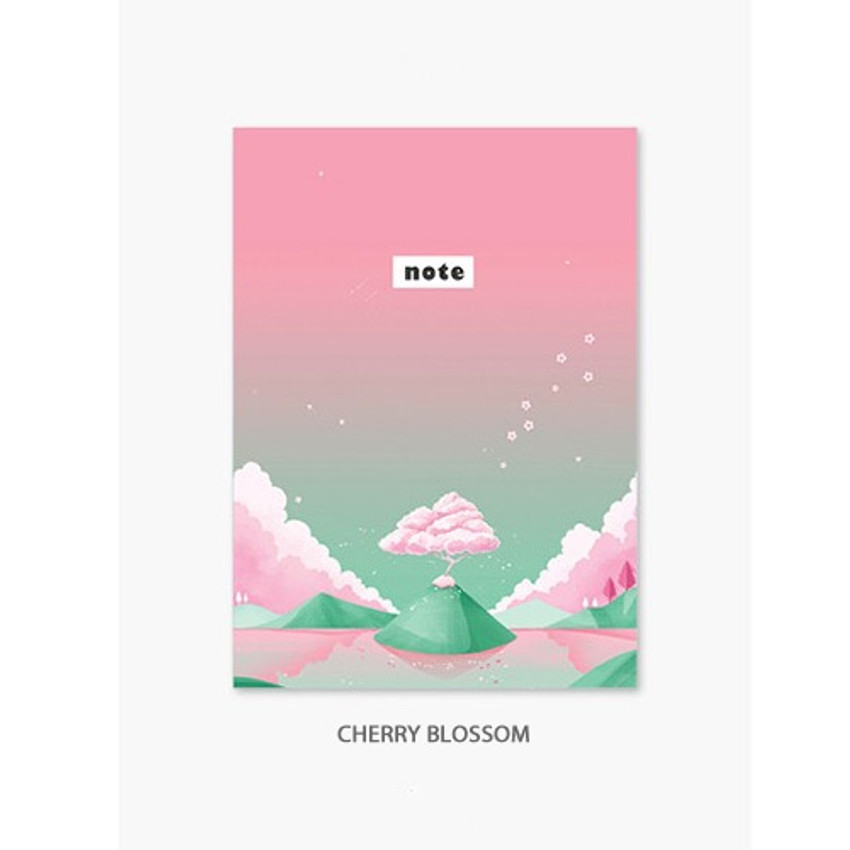 Cherry blossom - Illustration mini small lined notebook