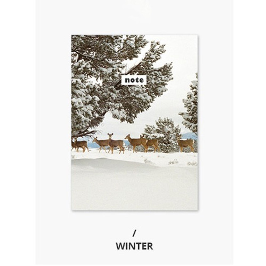 Winter - Photograph mini small lined notebook