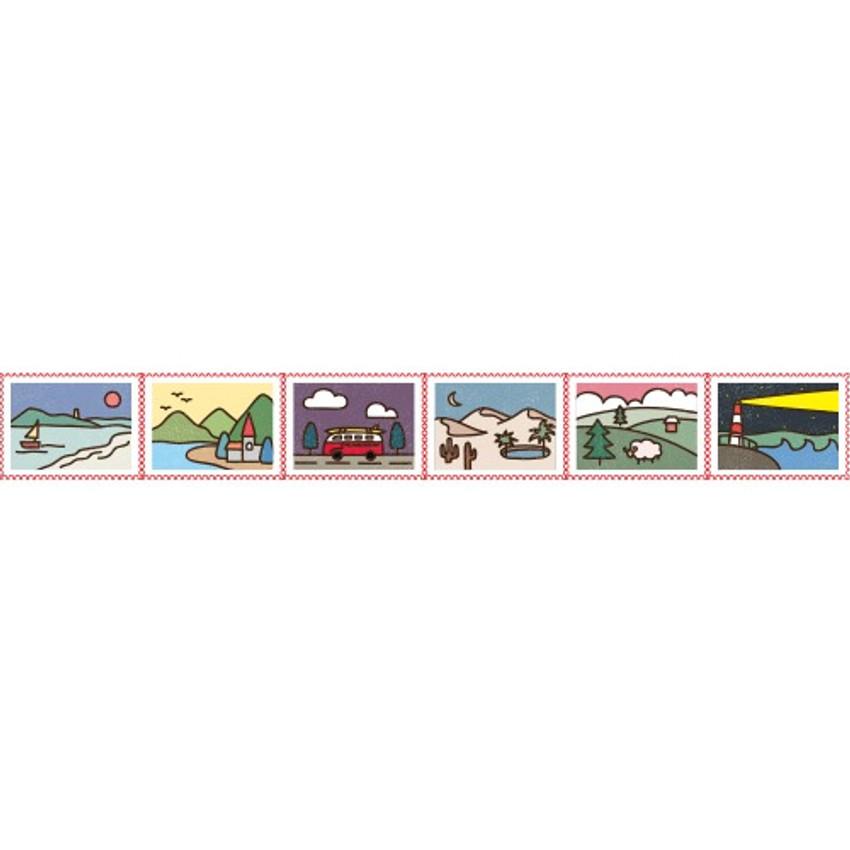 Detail of Landscape deco single stamp masking tape