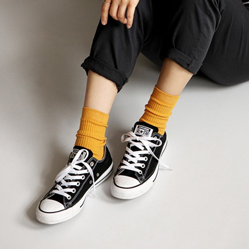 Dailylike Comfortable yours for life daily socks - Mustard
