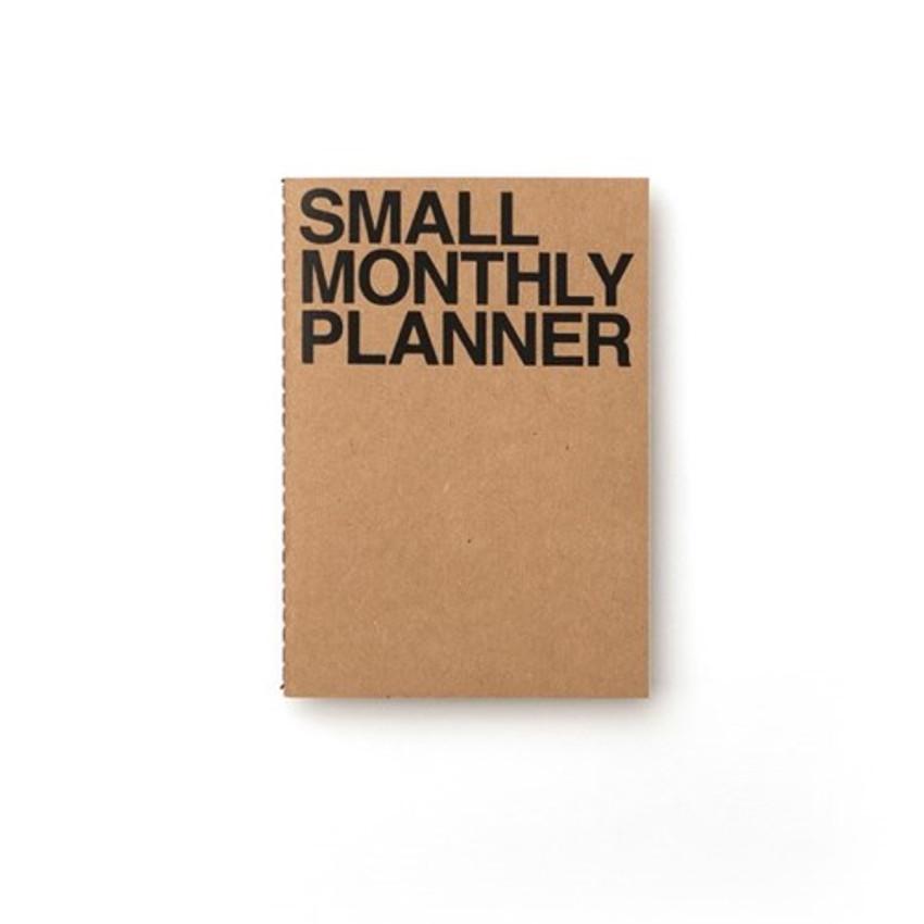 Kraft - Small 16 months undated monthly planner