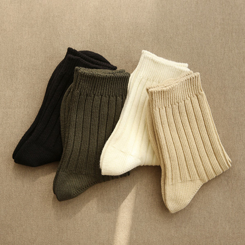 Dailylike Comfortable yours for life knit rib women socks