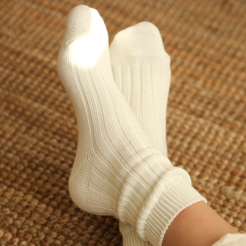 Ivory - Dailylike Comfortable yours for life knit rib women socks
