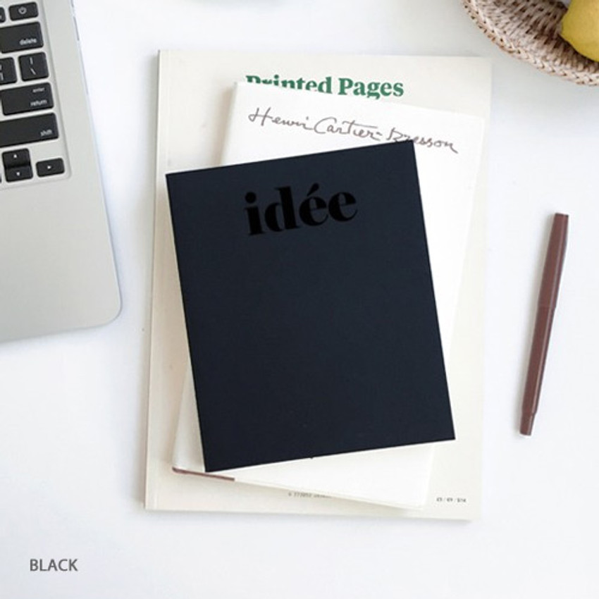 Black - Seeso Idee plain drawing notebook